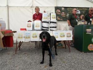 Lynne and Ozy from the Stowey Brewery at Cricketer Farm